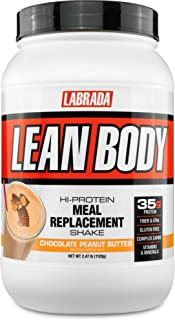 LABRADA Nutrition – Lean Body High Protein Meal Replacement Shake, Whey Protein Powder for Weight Loss and Muscle Growth, ...