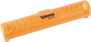 Televes 2162 Pelacables Cable COAXIAL, Naranja