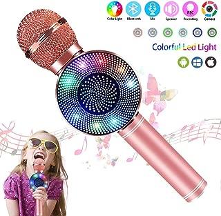 Wireless Bluetooth Karaoke Microphone,Kid Girl Top Christmas Birthday Gift Toy,2019 Best Gift Presents for Girl Kid Boy Children Age 5 6 7 8 9 10 11 12 Years Old,Karaoke Singing Mic with Speaker Echo