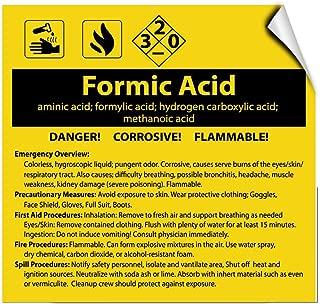 Formic Acid Aminic Acid; Formylic Acid; Hydrogen Carboxylic Label Decal Sticker 12 in X 12 in