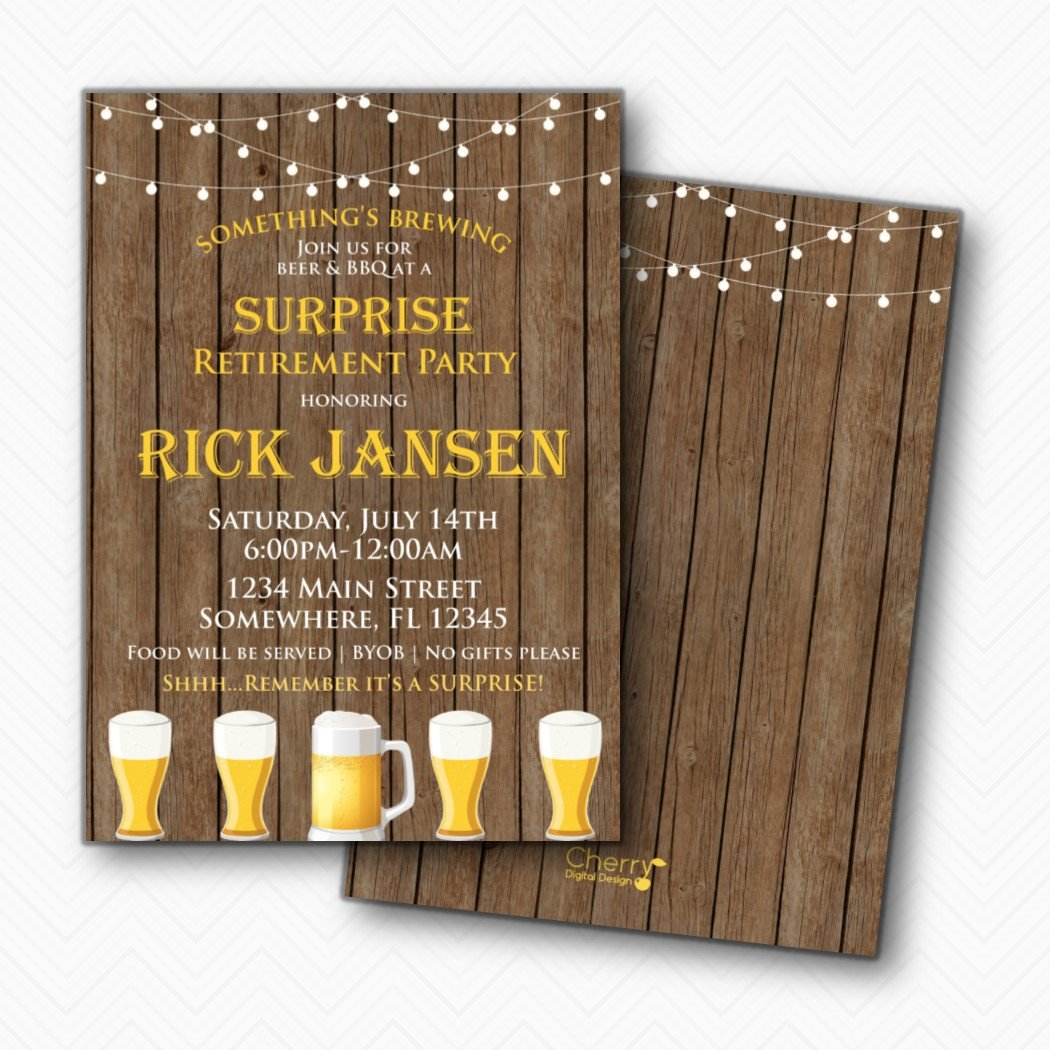Something cheap is Brewing Beer Shipping included Party Surprise Retirement Invitations