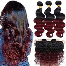 burgundy ombre bundles