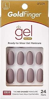 Kiss Gold Finger Gel Glam 24 Nails GFC09 GREY