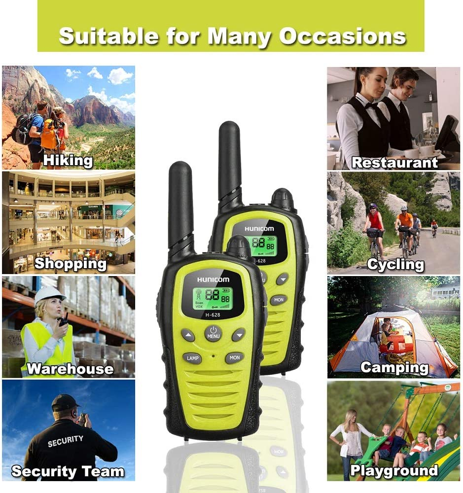 Walkie Talkies for Kids Toys 2 Way Radios Boys Girls Long Range 5km walky Talky with Flashlight LCD Backit VOX 22 Channels