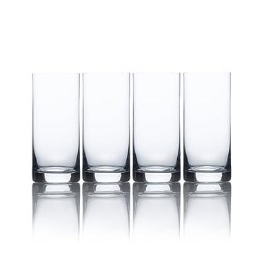 Mikasa Laura High Ball Glass, 15.5-Ounce, Set of 4