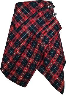 Handkerchief Skirt - 3 Pocket Tartan-Plaid Skirt with Handkerchief Hemline in 2 Traditional Scottish Colors