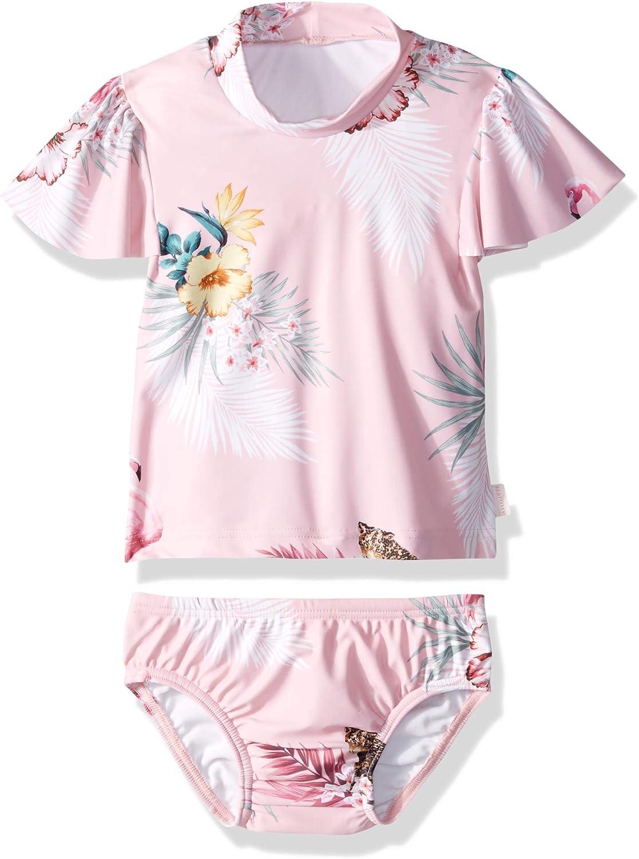 Seafolly Girls Baby Rashguard Swimsuit Set Two Piece Bikini