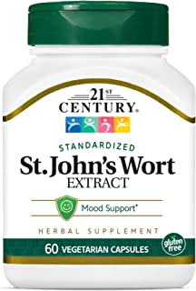 21st Century St. Johns Wort Extract Veg Capsules, 60 Count (21312)
