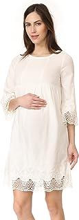 Ingrid & Isabel Women's Lace Trim Belle Sleeve Maternity Dress