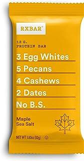 RXBAR, Maple Sea Salt, Protein Bar, 1.83 Ounce (Pack of 12), High Protein Snack, Gluten Free