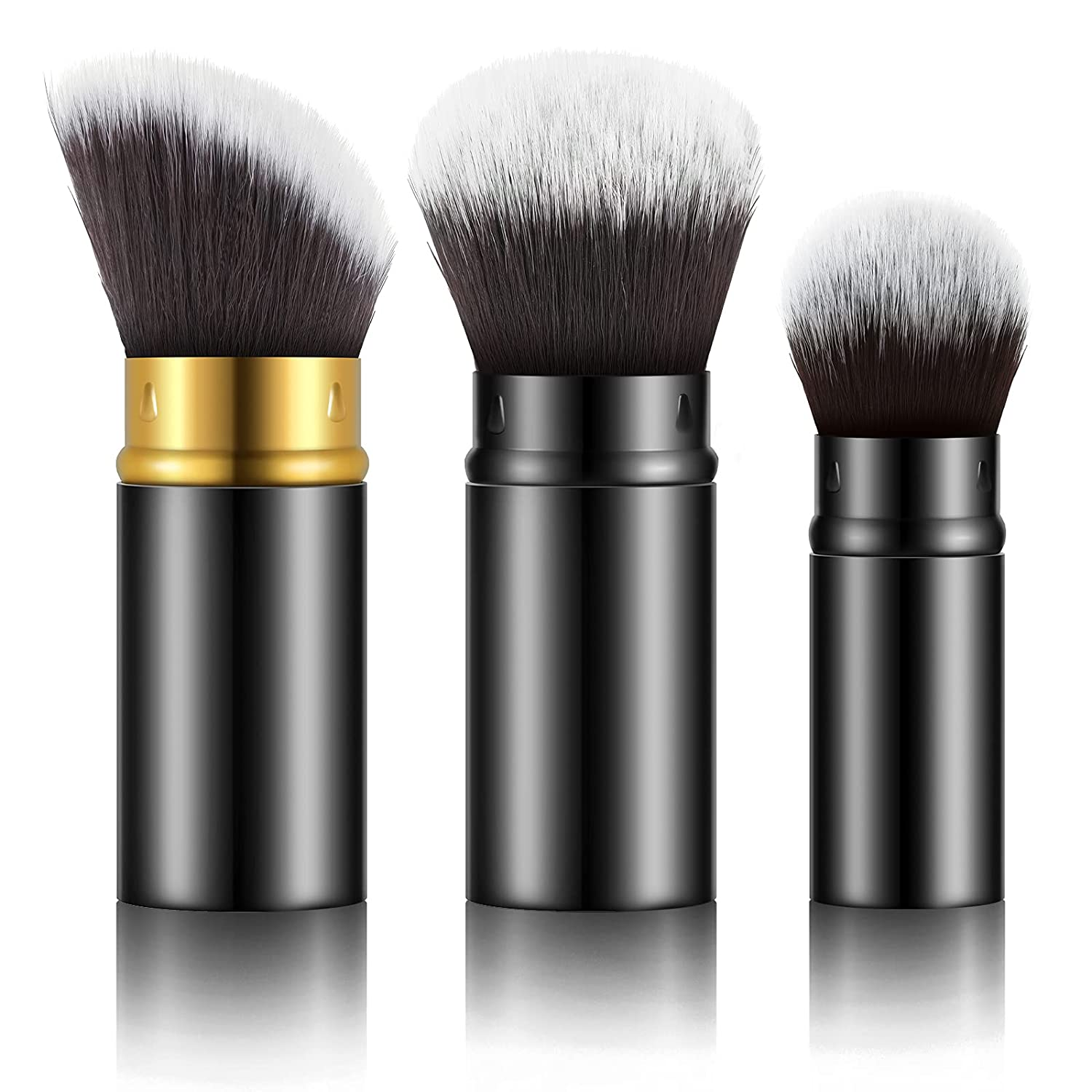 Boston Mall Max 58% OFF 3 Pieces Retractable and Portable Foundati Brushes Travel Makeup