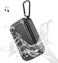 Portable Speaker Bluetooth Wireless Speakers V4.2 IP67 Water Dust Proof 33 ft Bluetooth Range Built-in Power Bank and Mic Waterproof Speaker for Outdoors,Hiking,Running,Shower, Travel,Camping