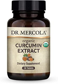 Dr. Mercola Organic Curcumin Extract, 30 Servings (30 Tablets), Provides 24 Times Greater Absorption Than Standard 95% cur...