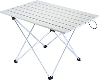 A plus life Camping Table, 56×41×40 cm, Portable Outdoor Folding Table, Lightweight Aluminum Table with Carrying Bag for Outdoor and Home, Easy to Clean.