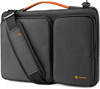 tomtoc 360 Protective Laptop Shoulder Bag for 13.3 Old MacBook Air, Old MacBook Pro Retina 2012-2015, 13.5 Surface Laptop 3/2/1, Surface Book 2/1, Ultrabook Case Bag with Accessory Pocket