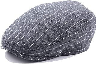 MZHHAOAN Beret Hats Cap for Women Autumn Winter Ladies Striped Plaid Men's Baker hat