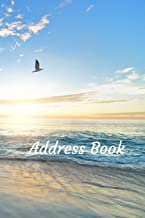 Address Book: With Alphabetical Tabs, For Contacts, Addresses, Phone, Email, Birthdays and Anniversaries (Beach)