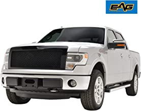 EAG Replacement Grille Mesh Upper Front Hood Grill with Shell Fit for 09-14 Ford F-150 - Black