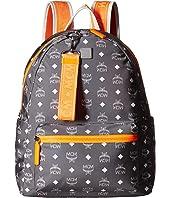 MCM - Resnick White Logo Nylon Backpack 40