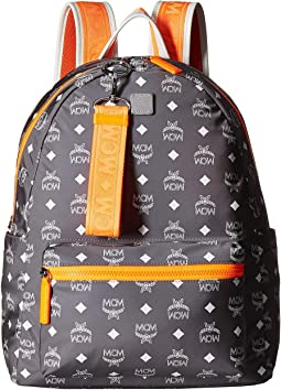 Resnick White Logo Nylon Backpack 40