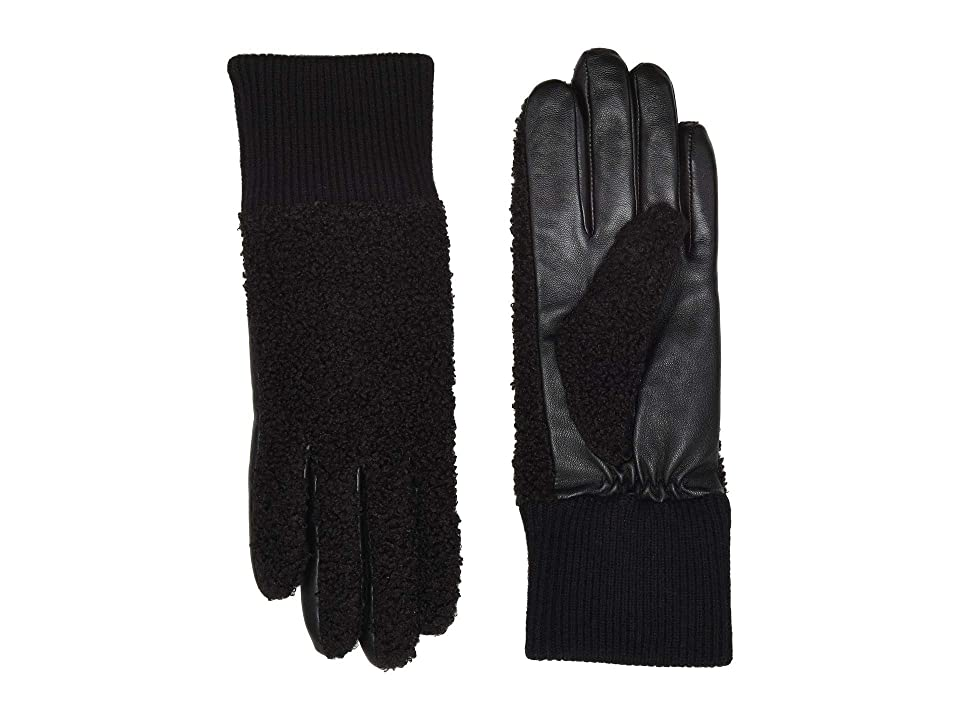 UGG Faux Sherpa Tech Gloves (Black) Extreme Cold Weather Gloves