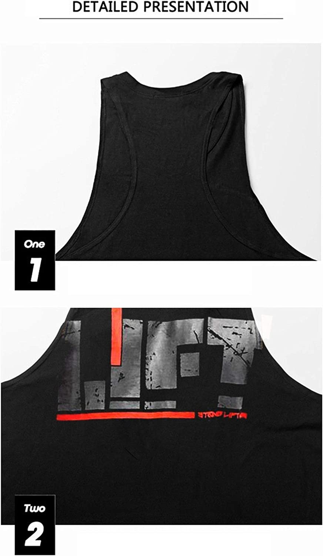 KODOO Camisetas de Tirantes para Hombre Culturismo sin Mangas de algod/ón Camiseta M/úsculo Sport Tank Top T-Shirt