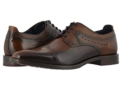 Stacy Adams Raiden Cap Toe Oxford (Tan/Burgundy) Men