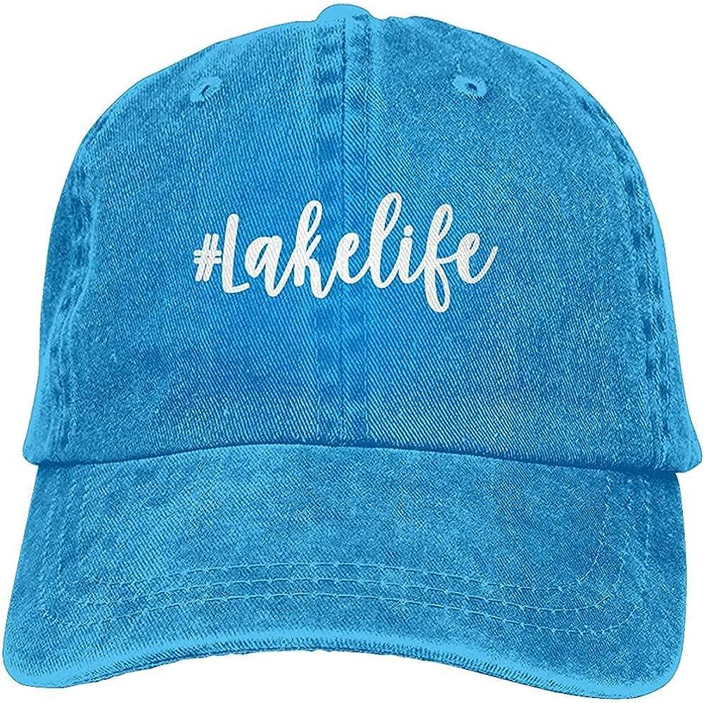 BGWORZD Fashion Printed Lake Life Hat Unisex Baseball Cap Adjustable Comfortable Cowboy Hat Black