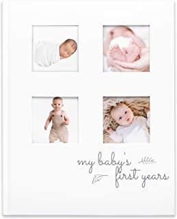 Baby First 5 Years Memory Book Journal - Modern Minimalist Hardcover 66 Pages First Year Milestone Newborn Journal for Boy...