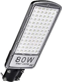 Farolas LED para Exterior, 80W 8000LM Blanco Frío 6000K Luz