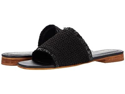 KAANAS Crete Frayed Upper Slip-On (Black) Women