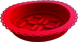 EMY 54750165 Roundy Moule à Gâteau en Silicone Rouge Transparent 6 x 32 cm