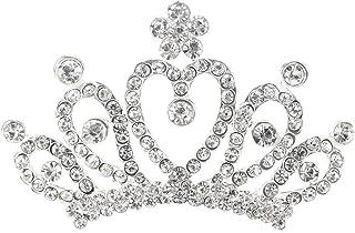 Frcolor Accessori per capelli a forma di principessa Corona tiara con strass scintillanti