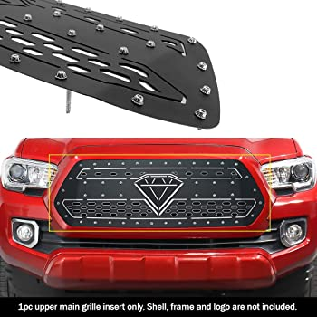 APS Compatible with 2016-2017 Tacoma Black Upper Grille Insert T86358H