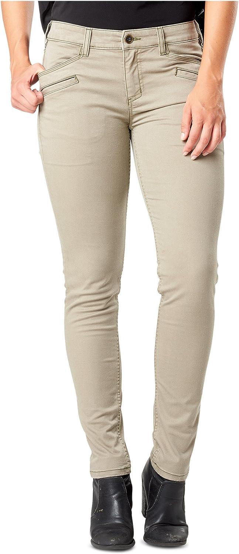 5.11 Women's DefenderFlex Slim Tactical Pants, Style 64415, Stone, 14 Regular