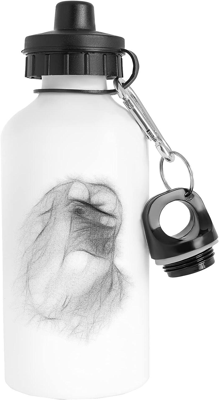 Un Brillante Rey Botella de Agua Acero Inoxidable Viajero Blanco Water Bottle Stainless Steel Traveller White