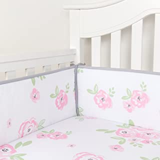 rose crib bumper