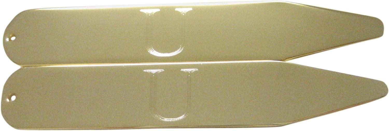 Kiola Designs Gold Toned Etched Letter U Monogram Collar Stays