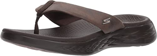 Skechers Performance Wohommes on-the-Go 600-Polished Flip-Flop, chocolate, 8 M US