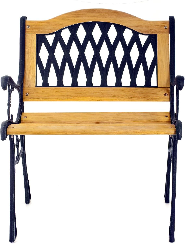 Home Stuhl, aus Holz und Gusseisen, 59x53x75 cm