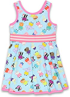 Peppa Pig Toddler Girls Fit and Flare Ultra Soft Dress