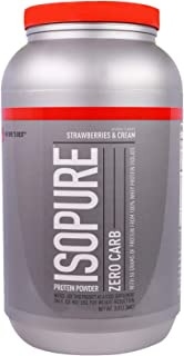 Nature's Best, IsoPure, Protein Powder, Zero Carb, Strawberries and Cream, 3 lb (1.36 kg)