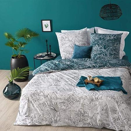 Atmosphera Parure de lit en Coton - Jungle - 240 x 220 cm