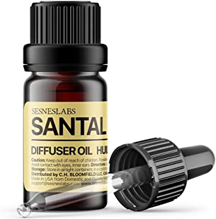 Santal Diffuser Oil, Niche Scent, Luxury Amber Coco Vanilla Cedar Sandalwood Musk Essential Oils Blend for Ultrasonic Diff...