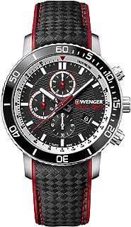 Wenger Hombre Roadster Black Night Chronograph - Reloj de Acero Inoxidable de Cuarzo analógico de fabricación Suiza 01.184...