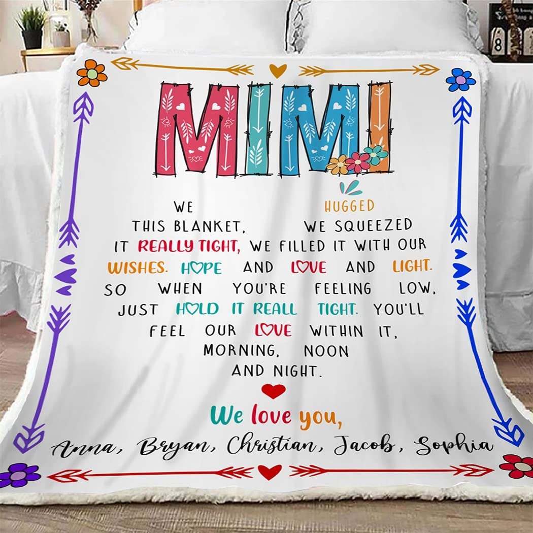 Mimi Superlatite Throw Blanket We Hugged Max 69% OFF Grandma This Gift Funny