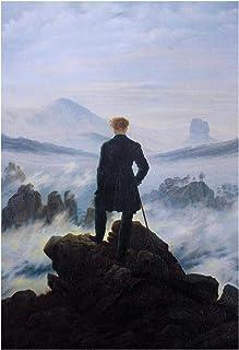 Vscdye Caspar David Friedrich Wanderer Affiches et Impressions Art Toile Peinture Maison décoration Murale Art Affiche Imp...