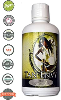 Tan Envy European Blend Dark 11.5% DHA Sunless Airbrush Spray Tanning Solution 32 oz