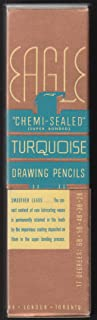 Eagle Chemi-Sealed Turquoise Drawing Pencils H One Dozen in Box 1936
