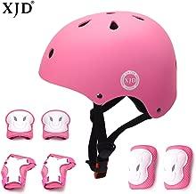 XJD Kids Bike Helmet Toddler Helmet for Kids 3-13 Years Sport Protective Gear Set Boy Girl Adjustable Child Cycling Helmet with Knee Pads Elbow Pads Wrist Guards Youth Skateboard Helmet CPSC Certified